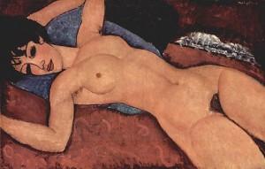 Nu, Amedeo Mogliani, 1917, Sammlung Gianni Mattioli