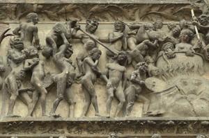 Tympan du jugement dernier, Cathédrale de Bourges (détail)