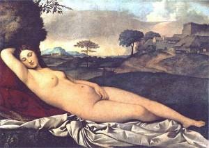 Vénus endormie, Giorgione, Vers 1510, Gemäldegalerie Dresde