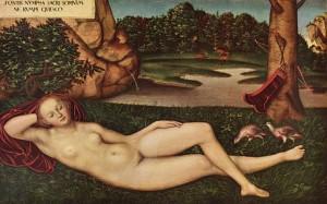 Nymphe, Luchas Cranach, Musée Thyssen-Bornemisza Madrid