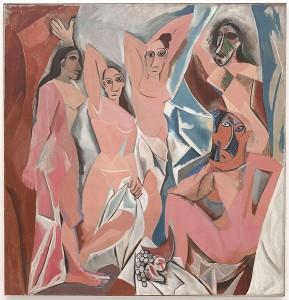 Les demoiselles d'Avignon, Pablo Picasso, 1907, Musée d'art moderne, New-York