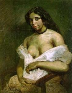 Portrait d'Aspasie dite Aline la Mulâtresse, par Eugène Delacroix