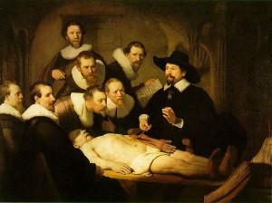 Le Leçon d'anatomie de Rembrandt