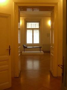 Salle Anna Freud du Musée Freud à Vienne. Photo : Marjorie Arpel
